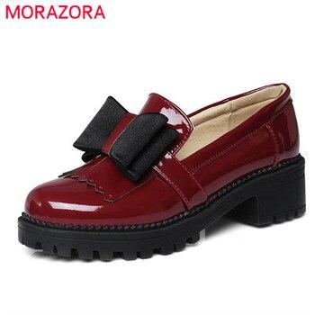 Morazora 2017 del otoño del resorte solos zapatos mujeres bombas de la plataforma tacones med zapatos de gran tamaño 34-43 zapatos de plataforma ocio