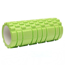 Apple Green 33x14CM Grid Foam Roller Trigger Point Sports Massage Gym Yoga Roller(China)