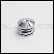 5MM Rhodium Plated Speaker Spike Mat Base Pad Shoe Isolation 4PCS Amp cone speaker pad