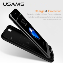 For iPhone 7 7plus Power Bank Case USAMS Battery Charger Case Ultra Slim External Pack Backup Portable charger case 2500&3650mAh