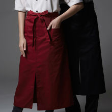 Half Length Poly Cotton Apron Barista Bartender Waiter Cafe BBQ Chef Uniform Restaurant Baker Waitress Kitchen Workwear B61