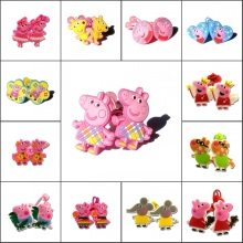 1pair Cartoon Lovely Pig Girls Hairbands Cute Headwear Hair Accessories PVC+Elastic Bands Kid Party Gift Hair Jewelry