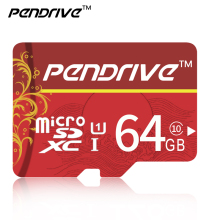 Real Capacity  MicroDrive Red  Micro SD cards SDHC / SDXC 64gb 32GB 16GB 8GB Memory Cards with retail box free shipping