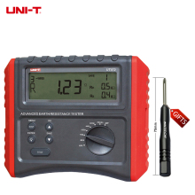 DHL free shipping UNI-T UT572 Smart Ground Resistance Testers Intelligent Digital Resistance Tester with Low Battery Data Hold(China)