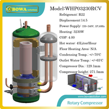 3.2KW heating capacity high efficiency R22 compressor for 45 Liter/hour heat pump water heater,suitable for infant swimming pool(China)