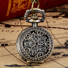 New Arrive Vintage Bronze Tone Spider Web Design Chain Pendant Men's Pocket Watch Gift Dropship s5
