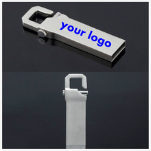 10pic/lot Customized logo USB flash drive Metal USB 2.0 Memory Stick PenDrive 8G 16G 32G Memory Flash Stick Wholesale U disk