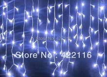 White/Warm White LED Christmas Lights Outdoor Wedding Holiday Curtain Lights Gerlyanda LED String Strip ice bar lamp Garlands
