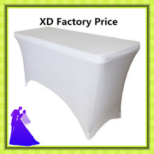 Big discounts!!! white spandex lycra stretch table cloth for wedding banquet party table cloth cheap free shipping