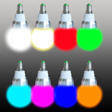 Newest Wireless Remote Controller E27 E14 3W RGB 16Colors LED Light Bulb Lamp 85-265V RGB 16 Color Change Lampada LED Luz