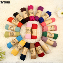 ZFQHJJ 180cmx90cm Women Cotton Linen Scarf Muslim Hijab Muffler Casual Long Plain Scarves Shawl Stole 21 candy colors for choose