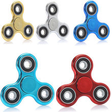 Metal Tri-Spinner Fidget Toy 2017 HOT ABS EDC Triangle Hand Finger Spinner Desk Focus Kids Adults Gyro Wholesale Drop Shipping