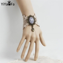 YiYaoFa Vintage Lace Bracelets & Bangles Bridesmaid Handmade Women Accessories Gothic Jewelry Lace Bracelets For Women WS-290