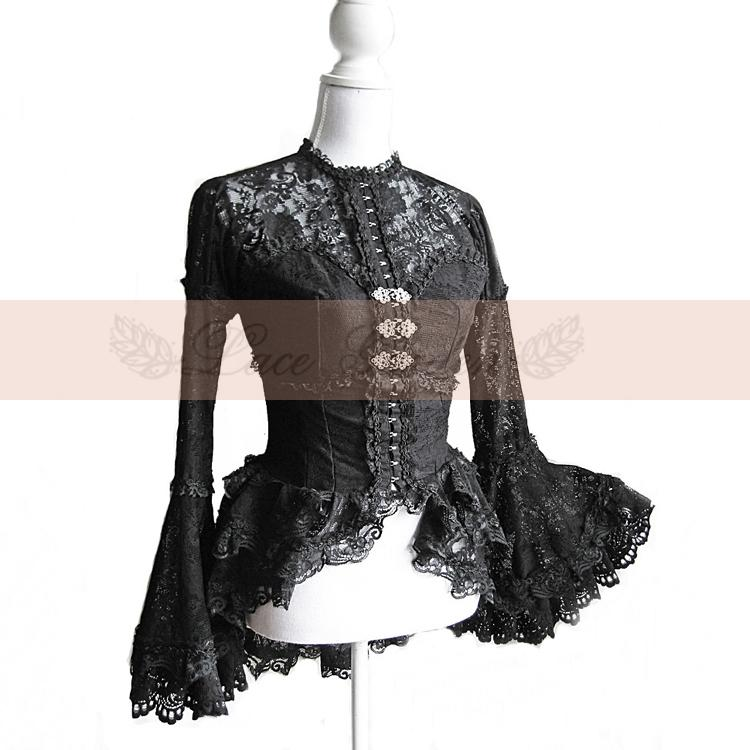 halloween costumes for women disfraces victorian dress lace retro palace noble big trumpet sleeve skirt suit