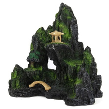 Rockery Ornament Aquatic Pet Supplies Mountain View Aquarium Rock Cave Stone Tree Plastic Fish Tank Ornament Decoration