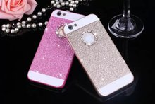 Fashionable Luxury Bling Diamond Sparkle Glitter Protective Cell Phone Case Cover For iPhone 5S 5 SE 6S 6 Plus