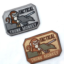 High Quality Fabric Stickers Tank Tactics Monkey Embroidery Arm Chapter Uniform Badge(China)
