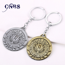 Battlestar Galactica Keychain can Drop-shipping Metal Key Rings For Gift Chaveiro Key chain Jewelry for cars YS10857