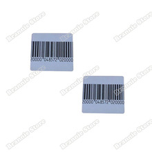 1000pcs/lot EAS soft label for supermarket alarm gate checkpoint soft label 8.2mhz 4*4cm eas rf sticker with barcode(China)