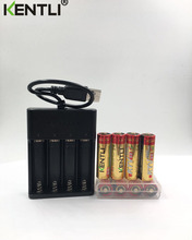 8pcs KENTLI 1.5V AA PK5 2800mWh rechargeable lithium li-ion batteries battery+ 4 slots lithium quick AA AAA charger