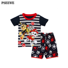Baby boy summer clothes cartoon dog toddler boy clothes short sleeve Boys t shirt+shorts Set kids clothes boys clothes set