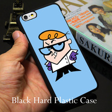 Dexter Cartoon Network Hard Black Phone Case for iPhone 7 6 6S Plus 4 4S 5C 5 SE 5S Cover
