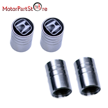 4Pcs/Lot Universal Aluminum Car Tyre Air Valve Caps Bicycle Tire Valve Cap Car Wheel Cover Styling Round for Honda @