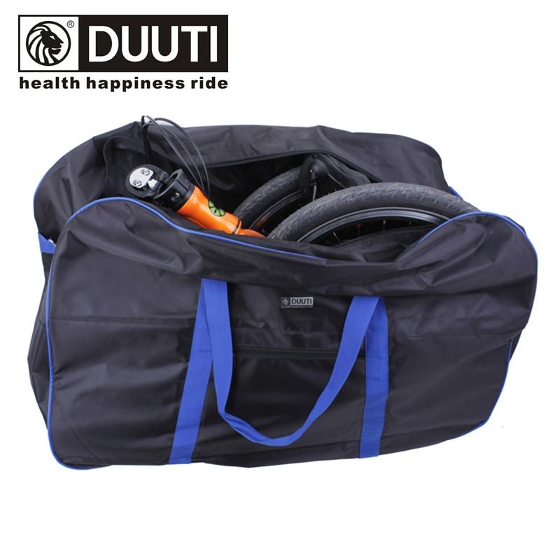 DUUTI Bicycle Storage Bag 14-20 Inch Folding Bike Loading 420D Pannier Shoulder Hand Carry Luggage Handlebar Seatpost Mount<br>