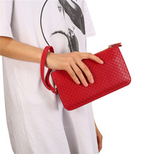 6.4'' Universal Fashion Women Wallet Bag for iPhone Samsung Phones Luxury Phone PU Leather Pouch Crossbody Small HandBags