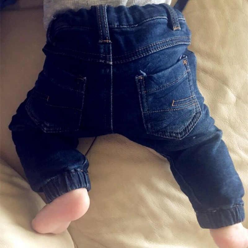 a9c7c0240 Детские зимние штаны, джинсы для новорожденных мальчиков, теплые длинные  шаровары для девочек, хлопковые