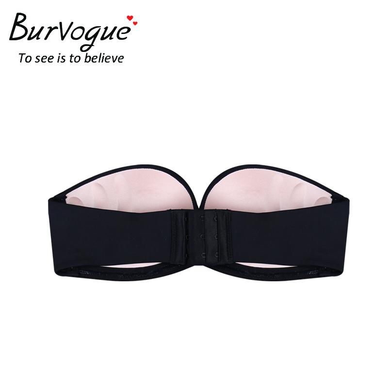 Burvogue Invisible Bra Sexy Strapless Seamless Push Up Bra for Women Underwear Bride Lace Self Adhesive Bras Wedding Brassiere 10