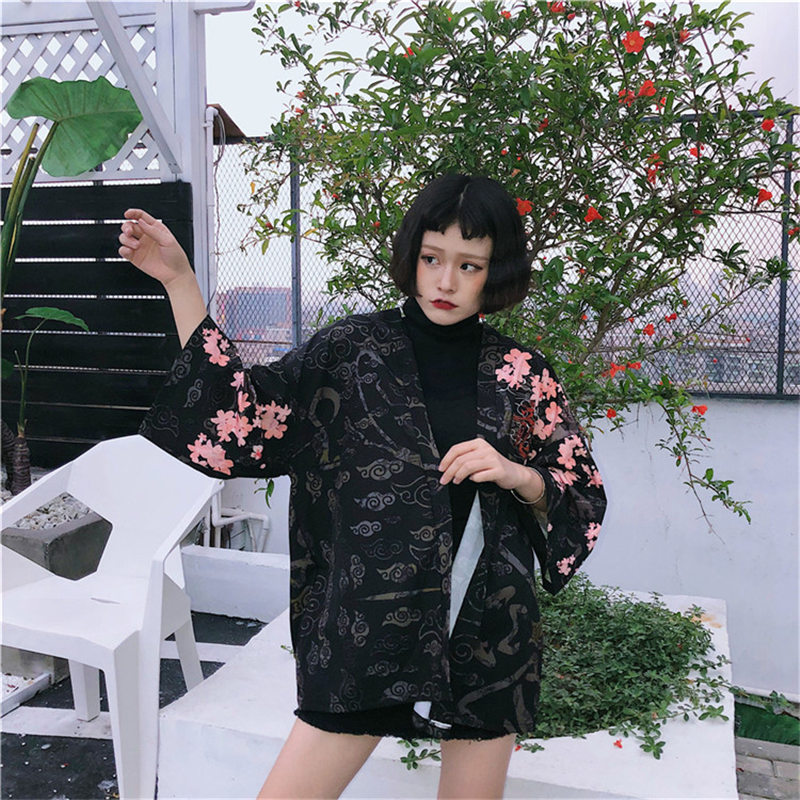 Red Dragon Japanese Summer Kimono
