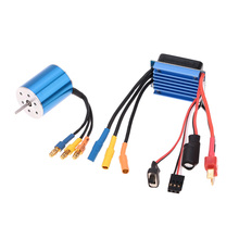 2430 7200KV 4P Sensorless Brushless Motor with 25A Brushless ESC Electric Speed Controller for 1/16 1/18 RC Car Truck