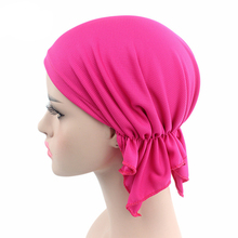 2017 Casual NEW Breathable Net Bandana Scarf Pre Tied Cotton Chemo Solid Hat Beanie Turban Headwear For Women