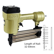 ST64 Pneumatic Steel Nail Gun Support Nail Length 32-64mm for Decoration Concrete Wood Wood Bamboo Fixed