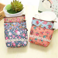 Free ship!1lot=15pc!Nice flower coin Purse /fashion small Bag / hand take wallet / key zipper storage bag/pouch