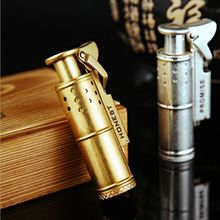 Honest retro pure copper coal oil cigar lighters creative Windproof lighter have Gold & Silver Color without gas fuel