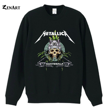 Metallica guatemala skull head Ninja Star Logo American California Thrash Metal band girls woman cotton fleece Sweatshirt