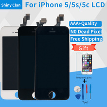 AAA High quality mobile phone Lcd Screen For Apple IPhone 4 4s 5 5s 5c LCD Display Touch Screen Assembly With Digitizer Glass(China)