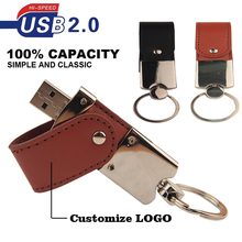 Fashion leather usb flash drive 64GB pen drive 32GB pendrive real capacity memory stick disk 4GB 8GB 16GB storage device