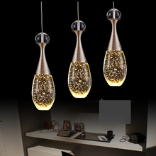 Modern Creative LED Multi-Standard Bubble Crystal Lamp Perfume Bottle Restaurant Lighting Hotel Lobby Decoration Lights(China)