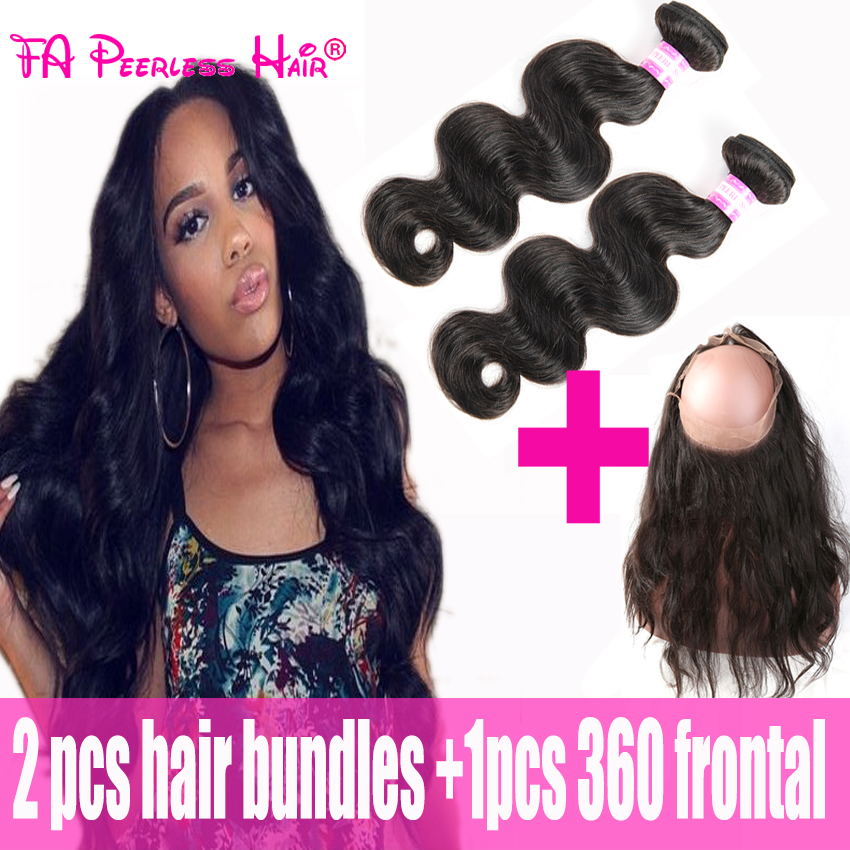 Peruvian Virgin Hair Body Wave With 360 Frontal Closure Tissage Peruvian Avec Closure With 2Bundles Alibaba-Express Ms Here Hair<br><br>Aliexpress