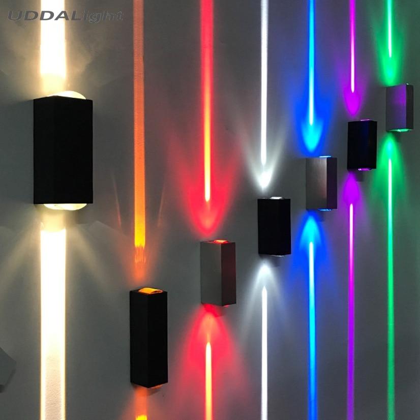 CREE waterproof wall light 3-6W led lights outdoor black 15degree Narrow porch light