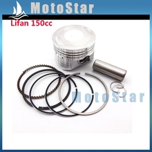 56mm 15mm Piston Pin Ring Set Kit For Chinese Lifan 150cc Engine 4 Wheeler Motorcycle Pit Dirt Trail Motor Bike ATV Quad(China)