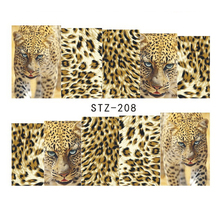 1 Sheets Nail Art Full Wraps DIY Sexy Tiger Skin for Nails Decor Designs Nail Water Transfer Sticker Nail Decals TRSTZ208