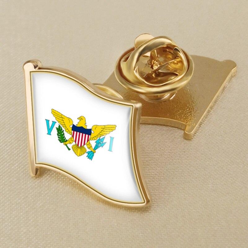 U.S Premium Qulaity Virgin Islands Flag Bike Motorcycle Hat Cap lapel Pin