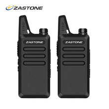 2pcs/lot Zastone X6 Walkie Talkie UHF 400-470 MHz Ham Radio Handheld Transceiver CB Radio Portable Toy Walkie-talkie(China)