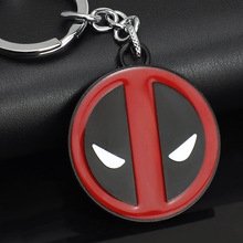 MARVEL Comics Superman X MEN Deadpool Hero Stainless Steel KeyRings Keychains Purse Bag Buckle Best Gift key chains holder K100