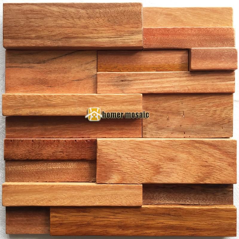 3D natural wood mosaic old ship wood tiles natural wood wall mosaic HS6008 for bar background backsplash kitchen wall<br>