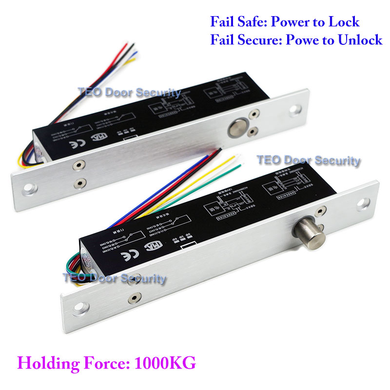 5 Wires Electric Lock Magnetic Output with Timer DC12V Fail Safe Power off to open Door Security for Access Control System<br>